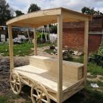 прилавок деревянный с колесами заказать