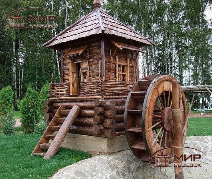 декоративные водяные мельницы фото домик